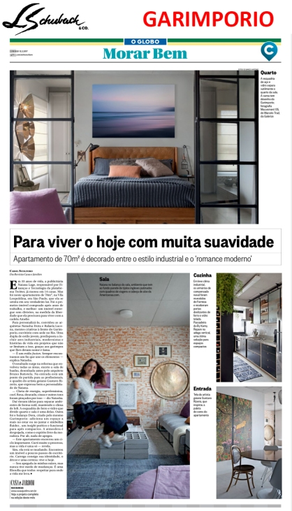 GARIMPORIO no cadermo MORAR BEM, do jornal O Globo, de 12 de fevereiro de 2017