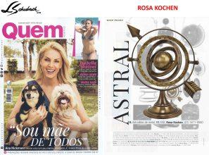 ROSA KOCHEN na revista QUEM ACONTECE de 01 de fevereiro de 2017