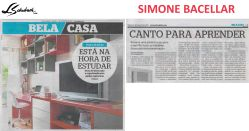 SIMONE BACELLAR no caderno BELA CASA, do jornal EXTRA, em 04 de fevereiro de 2017
