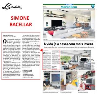 SIMONE BACELLAR no caderno MORAR BEM do jornal O GLOBO de 5 de fevereiro de 2017 - parte 1