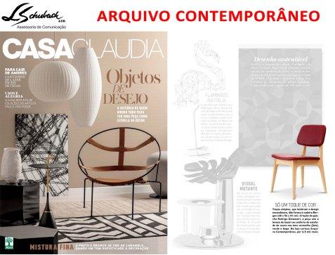 ARQUIVO CONTEMPORÂNEO na revista Casa Claudia de abril de 2017