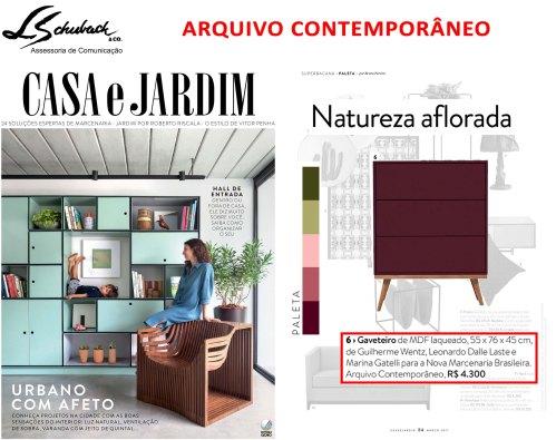 ARQUIVO CONTEMPORÂNEO na Revista Casa e Jardim de março de 2017