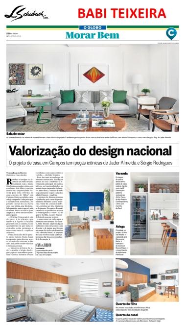 BABI TEIXEIRA no caderno MORAR BEM, do jornal O Globo, em 16 de abril de 2017