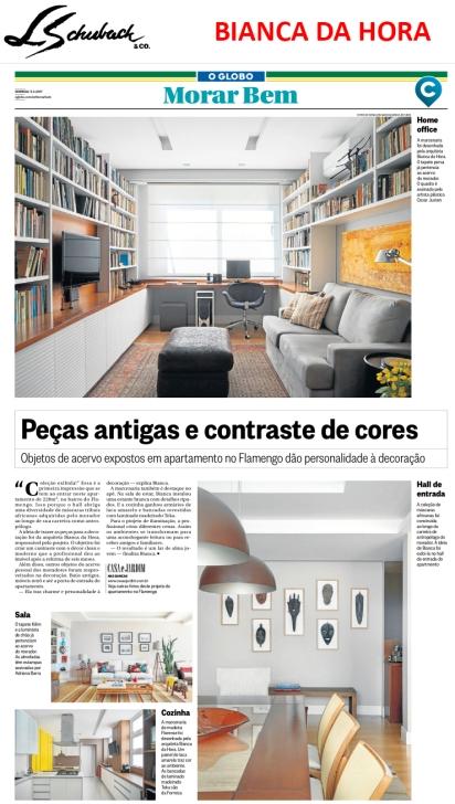 BIANCA DA HORA no caderno MORAR BEM, do jornal O GLOBO, em 5 de março de 2017