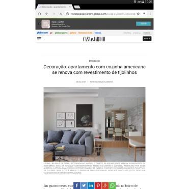 Bianca da Hora no site da revista CASA & JARDIM postado em 29 de abril 2017