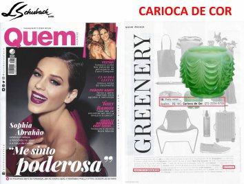 CARIOCA DE COR na revista QUEM ACONTECE de 15 de março de 2017