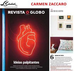 Depoimento da arquiteta CARMEN ZACCARO na Revista O Globo de 16 de abril de 2017