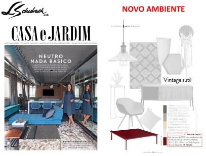 NOVO AMBIENTE na revista CASA E JARDIM de abril de 2017