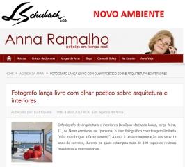 NOVO AMBIENTE no site ANNA RAMALHO em 8 de abril de 2017