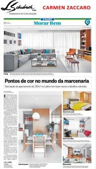 Projeto da arquiteta CARMEN ZACCARO no caderno Morar Bem do jornal O Globo em 2 de abril de 2017
