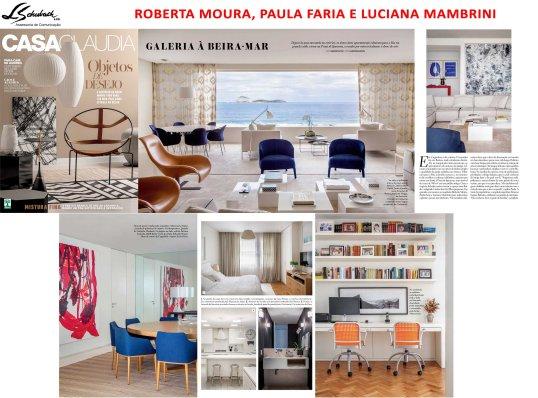 Projeto das arquitetas ROBERTA MOURA, PAULA FARIA e LUCIANA MAMBRINI na revista Casa Claudia de abril de 2017