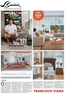 Projeto do arquiteto FRANCISCO VIANA na Revista O Globo em 19 de março de 2017