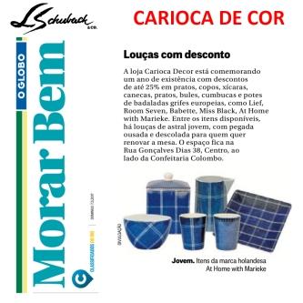 CARIOCA DE COR no caderno MORAR BEM em 7 de maio de 2017