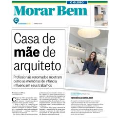 CLAUDIA PIMENTA, dupla com PATRICIA FRANCO, no caderno MORAR BEM, do jornal O GLOBO, em 14 de maio de 2017