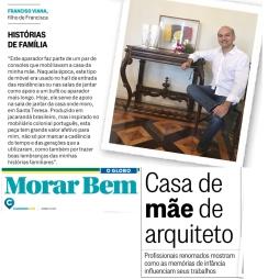 FRANCISCO VIANA no caderno MORAR BEM, do jornal O GLOBO, em 14 de maio de 2017