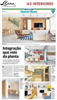 Projeto da A3 Interiores no Caderno Morar Bem do jornal O Globo em 28 de maio de 2017