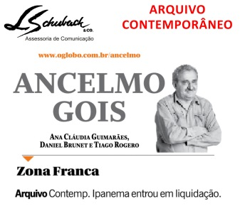 ARQUIVO CONTEMPORÂNEO na coluna do Ancelmo Gois em 28 de junho de 2017