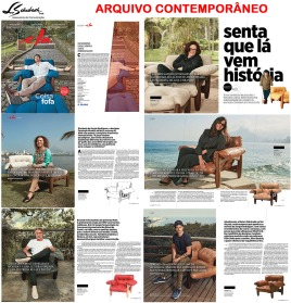 ARQUIVO CONTEMPORÂNEO na matéria de capa da ELA REVISTA em 23 de julho de 2017