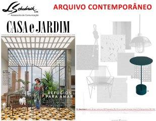 ARQUIVO CONTEMPORÂNEO na revista Casa e Jardim de julho de 2017