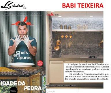 BABI TEIXEIRA na ELA REVISTA, do jornal O GLOBO, em 9 de julho de 2017