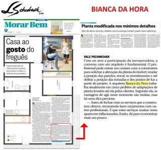 BIANCA DA HORA no caderno Morar Bem, do jornal O GLOBO, em 18 de junho de 2017