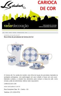 CARIOCA DE COR no site RADAR DECORAÇÃO de 29 de junho de 2017