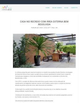 CLAUDIA PIMENTA E PATRICIA FRANCO no site CONEXÃO DECOR em 24 de julho de 2017_