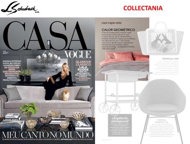 COLLECTANIA na revista CASA VOGUE em julho de 2017