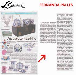FERNANDA PALLES no caderno CASA do jornal O DIA de 23 de julho de 2017