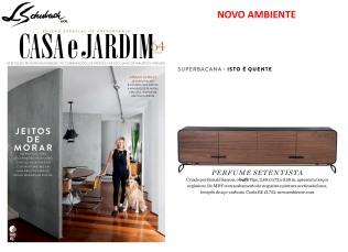 NOVO AMBIENTE na revista CASA E JARDIM de junho de 2017