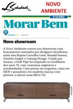 NOVO AMBIENTE no caderno Morar Bem, do jornal O Globo, em 18 de junho de 2017