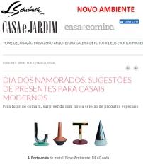 NOVO AMBIENTE no site da revista CASA E JARDIM em 02 de junho de 2017