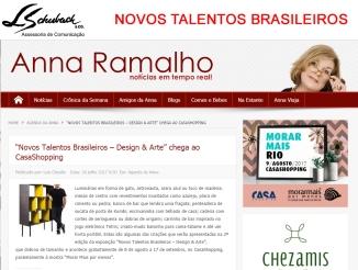 NOVOS TALENTOS BRASILEIROS no portal Anna Ramalho em 26 de julho de 2017