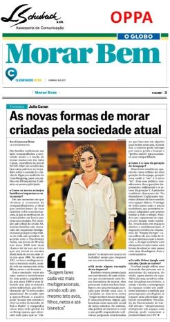 OPPA no caderno Morar Bem do jornal O Globo em 18 de junho de 2017