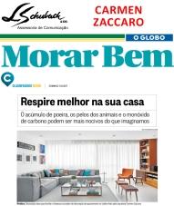 Projeto da arquiteta CARMEN ZACCARO no Caderno Morar Bem do jornal O Globo em 11 de junho de 2017