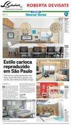 Projeto da designer de interiores ROBERTA DEVISATE no Caderno Morar Bem do jornal O Globo em 11 de junho de 2017