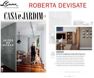 ROBERTA DEVISATE na revista Casa e Jardim de junho de 2017