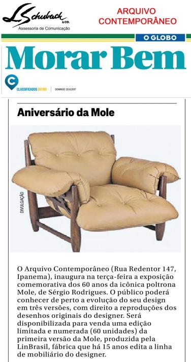 ARQUIVO CONTEMPORÂNEO no Caderno Morar Bem do dia 20 de agosto de 2017