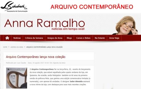 ARQUIVO CONTEMPORÂNEO no Portal Anna Ramalho em 14 de agosto de 2017