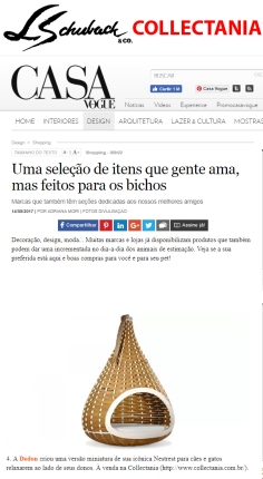 COLLECTANIA no site CASA VOGUE em 14 de agosto de 2017