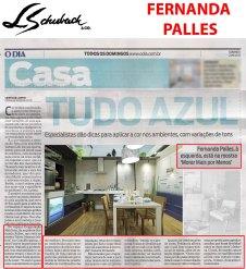 FERNANDA PALLES no caderno Casa, do jornal O DIA, em 27 de agosto de 2017
