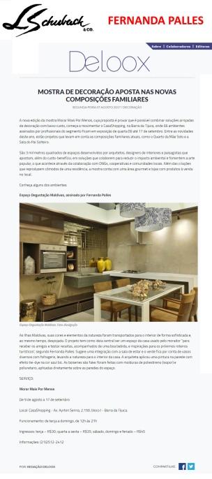 FERNANDA PALLES no portal DELOOX em 7 de agosto de 2017