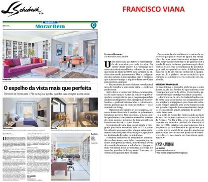 FRANCISCO VIANA no caderno MORAR BEM, do Jornal O Globo em 13 de agosto de 2017