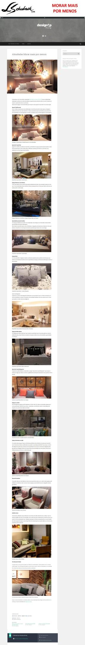 MORAR MAIS POR MENOS no blog DESIGN UP em 30 de Agosto de 2017