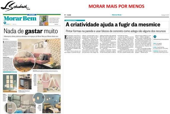 MORAR MAIS POR MENOS no caderno Morar Bem, do jornal O Globo em 6 de agosto de 2017