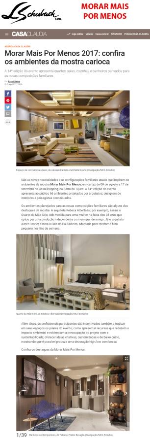 MORAR MAIS POR MENOS no site CASA CLAUDIA em 9 de agosto de 2017