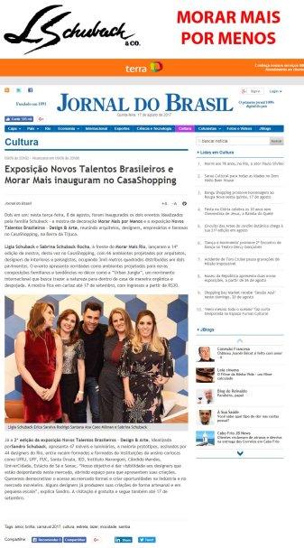 MORAR MAIS POR MENOS no site JORNAL DO BRASIL em 9 de agosto de 2017