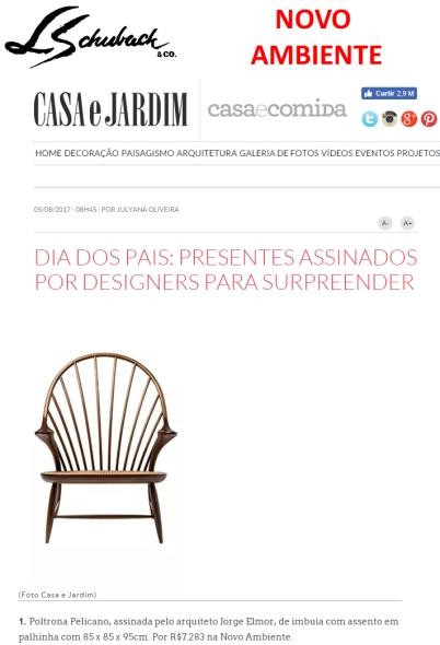 NOVO AMBIENTE no site da CASA E JARDIM em 5 de agosto de 2017