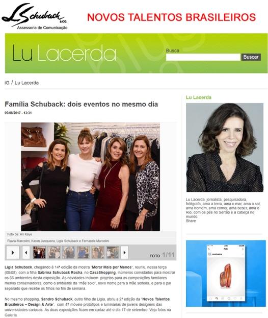 NOVOS TALENTOS BRASILEIROS no blog da Lu Lacerda 9 de agosto de 2017