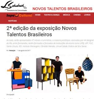 NOVOS TALENTOS BRASILEIROS no site Sopa Cultual em 1º de agosto de 2017